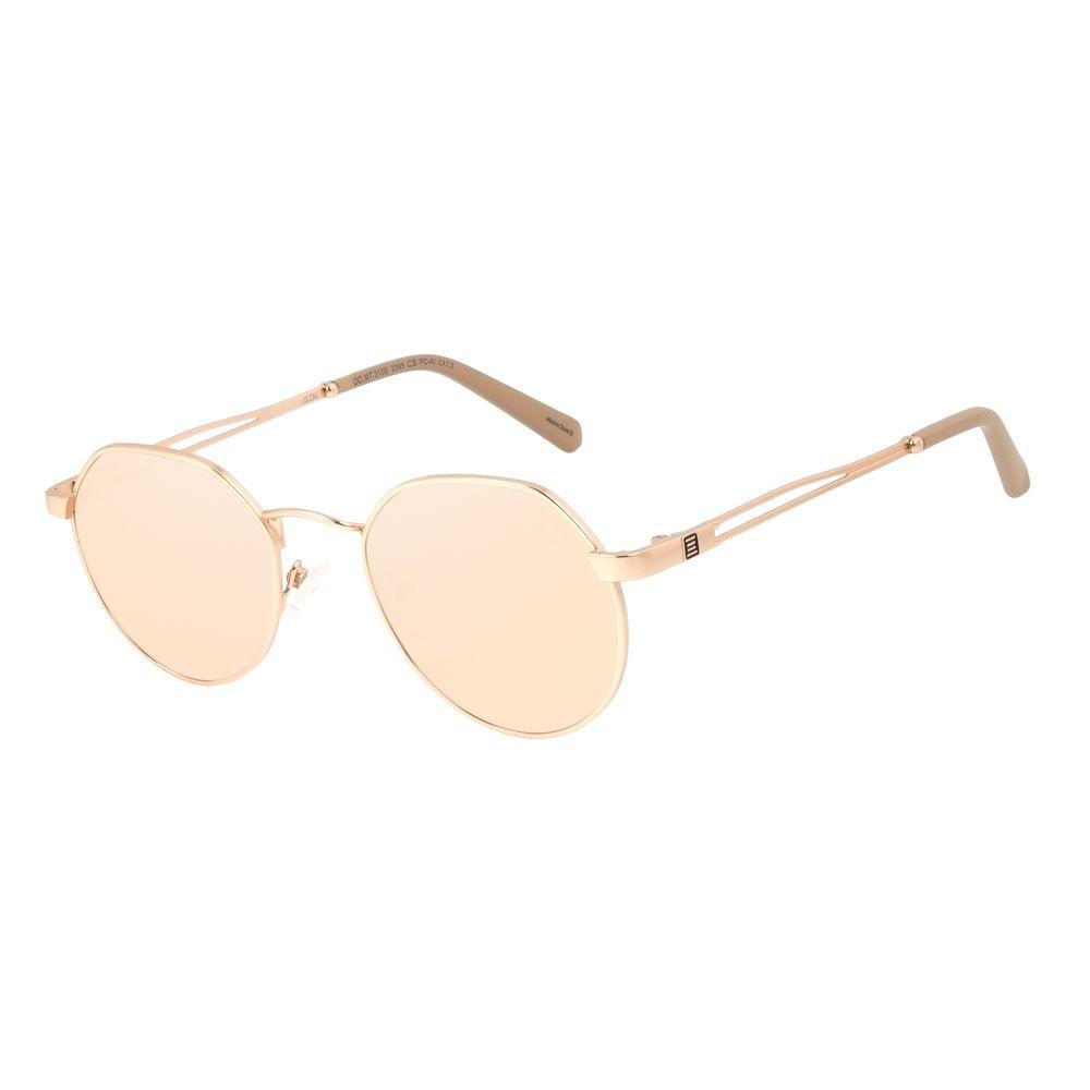 Óculos de Sol Unissex Alok Tech in Style Clássico Redondo Rosé OC.MT.3106-2395