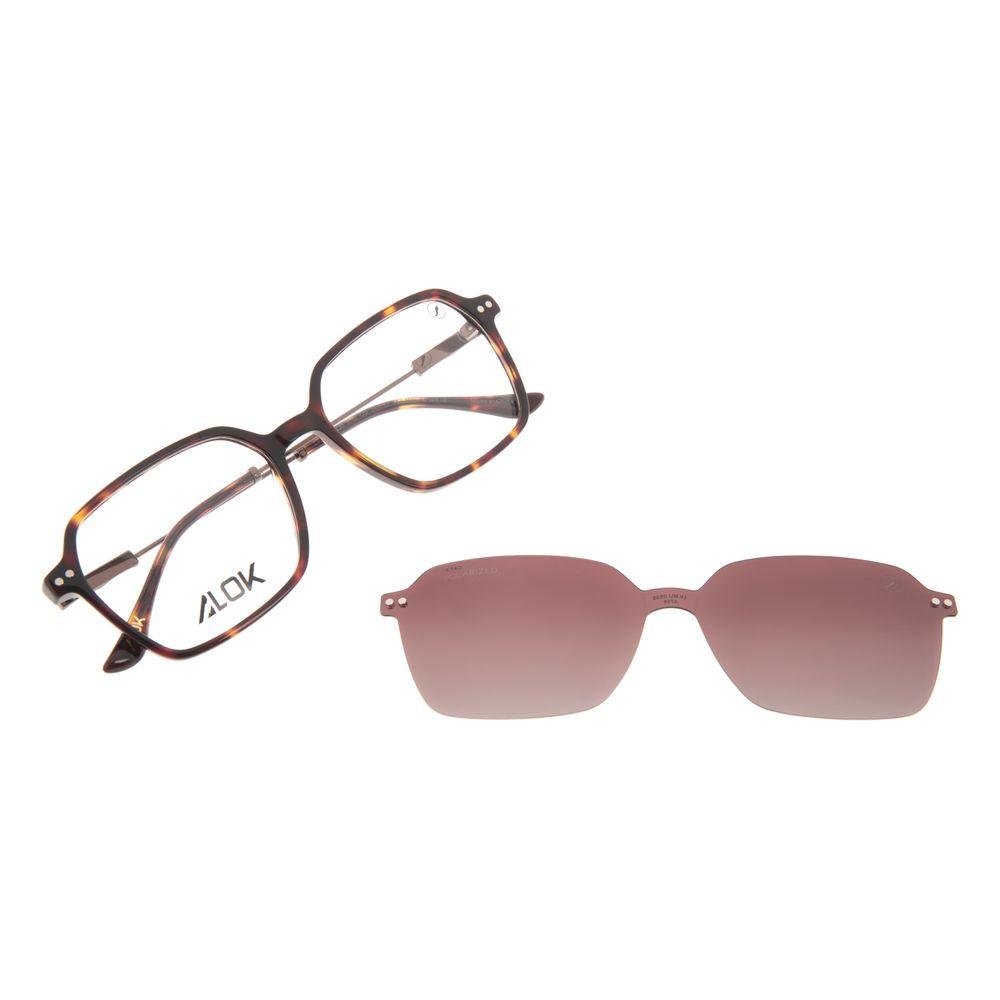 Armação Para Óculos de Grau Feminino Alok Tech In Style Multi Polarizada Tartaruga LV.MU.0535-5706