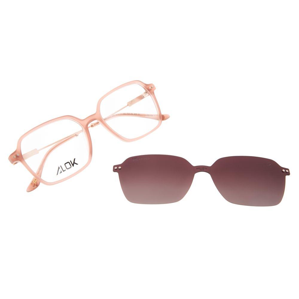 Armação Para Óculos de Grau Feminino Alok Tech In Style Multi Polarizada Bege LV.MU.0535-5723