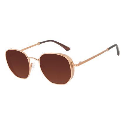 Óculos de Sol Unissex Alok Tech in Style Casual Flap Degradê Marrom OC.MT.3111-5702