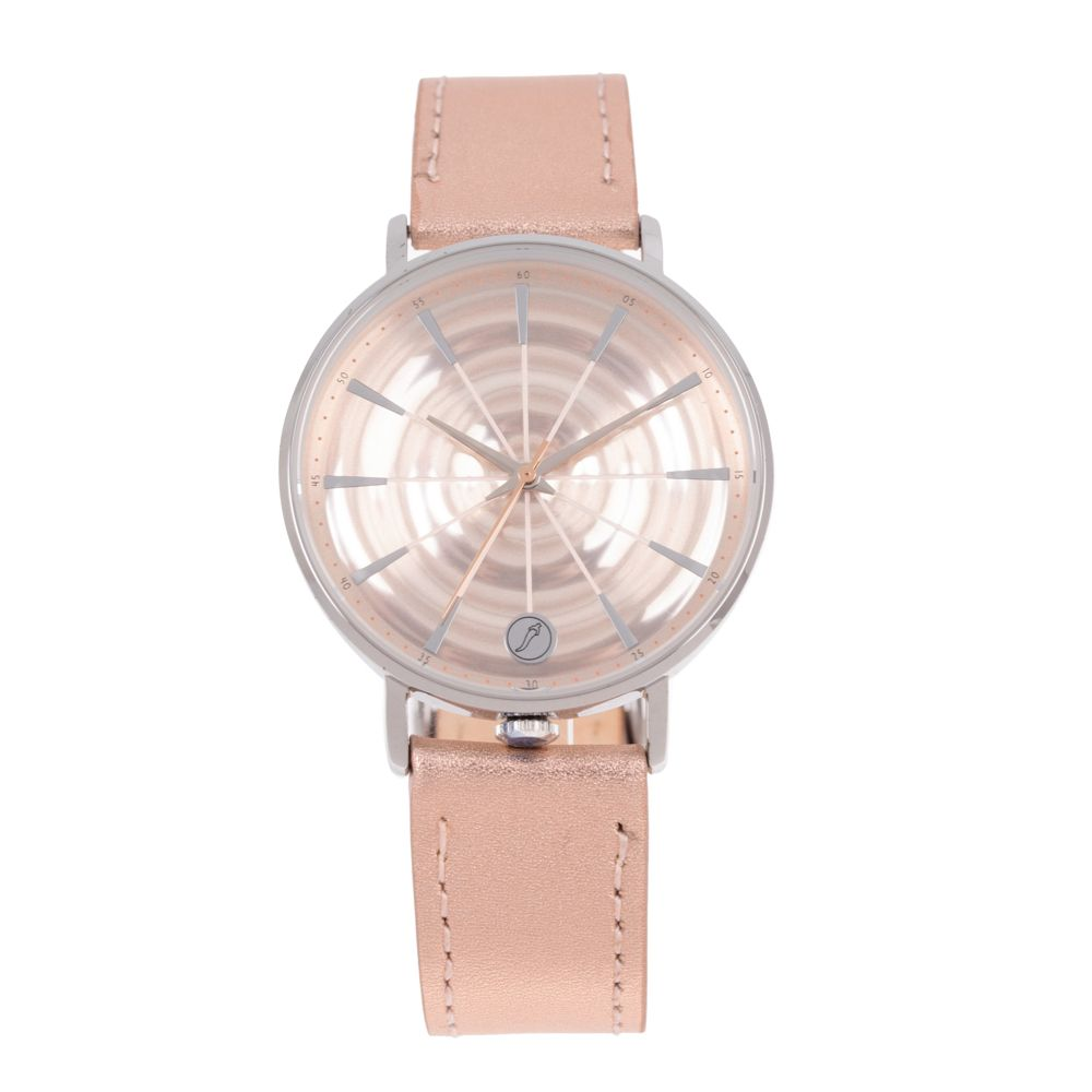 Relógio Analógico Feminino Infinity Couro Shine Rosé RE.CR.0468-9507