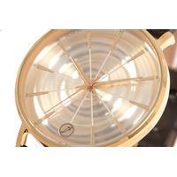 Relógio Analógico Feminino Infinity Couro Shine Dourado RE.CR.0468-2121.5