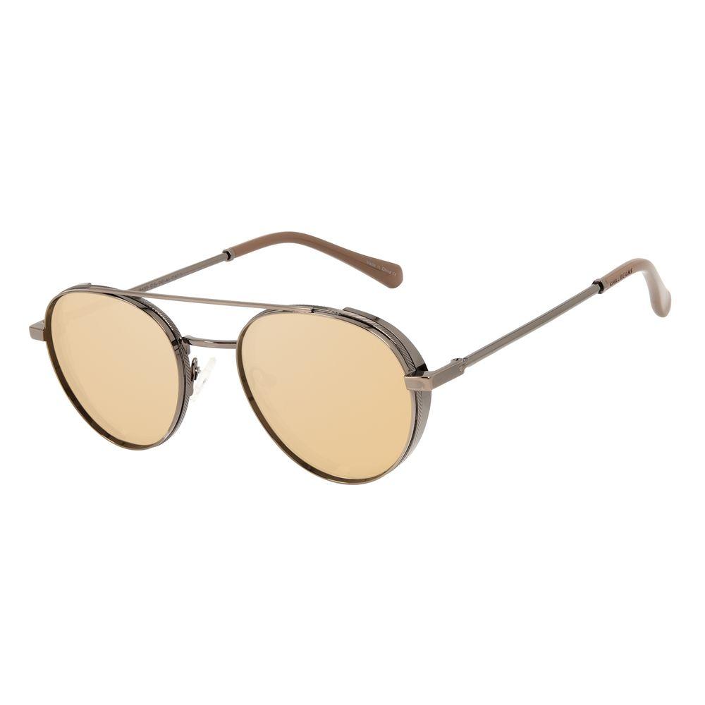 Óculos de Sol Unissex Alok Tech In Style Redondo Flap Ônix OC.MT.3112-2122