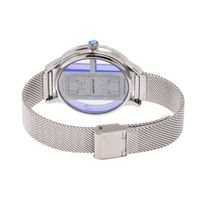 Relógio Digital Feminino Infinity Translúcido Metal Prata RE.MT.1173-0707.2