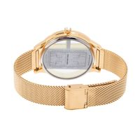 Relógio Digital Feminino Infinity Translúcido Metal Dourado RE.MT.1173-2121.2