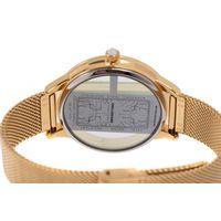 Relógio Digital Feminino Infinity Translúcido Metal Dourado RE.MT.1173-2121.5