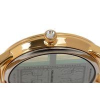 Relógio Digital Feminino Infinity Translúcido Metal Dourado RE.MT.1173-2121.6