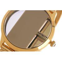 Relógio Digital Feminino Infinity Translúcido Metal Dourado RE.MT.1173-2121.7