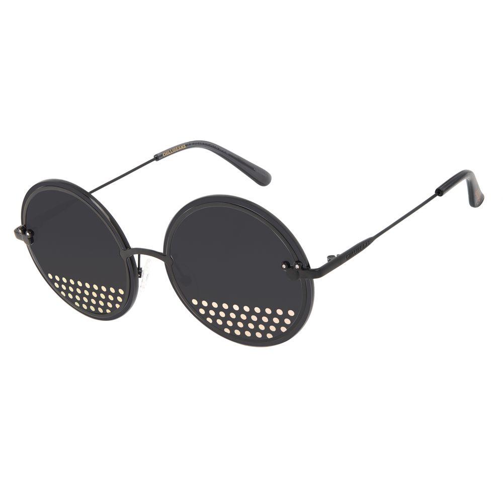 Óculos de Sol Feminino Minnie e Mickey Mouse Redondo Preto OC.MT.3115-0195