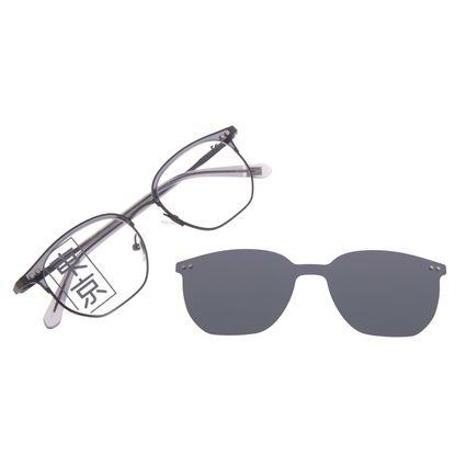 Armação Para Óculos de Grau Masculino Tokyo Multi Cinza Polarizado LV.MU.0435-0104