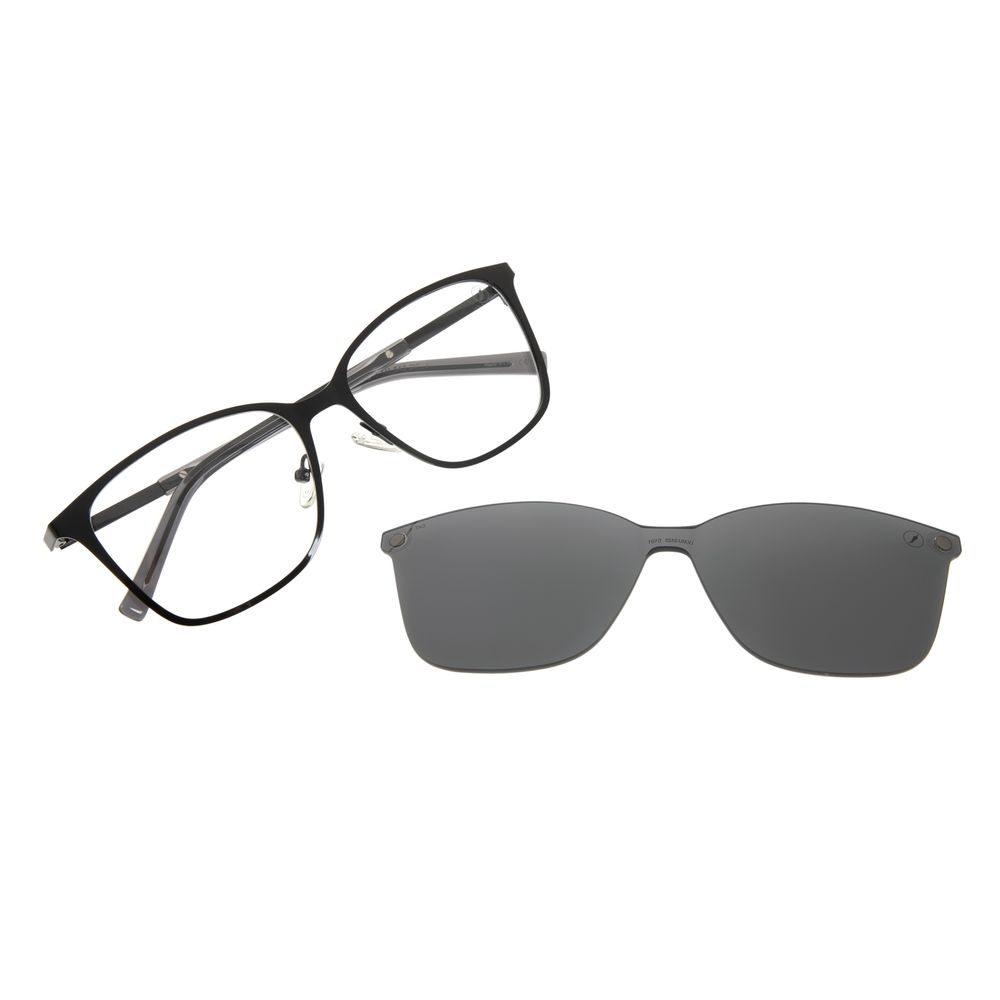Armação Para Óculos de Grau Feminino Chilli Beans Multi 2 Em 1 Preto LV.MU.0554-0101