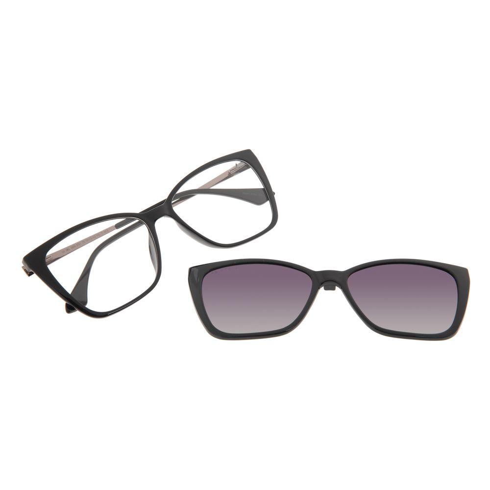 Armação Para Óculos de Grau Feminina Chilli Beans Multi Cat Polarizada Preta LV.MU.0559-0101