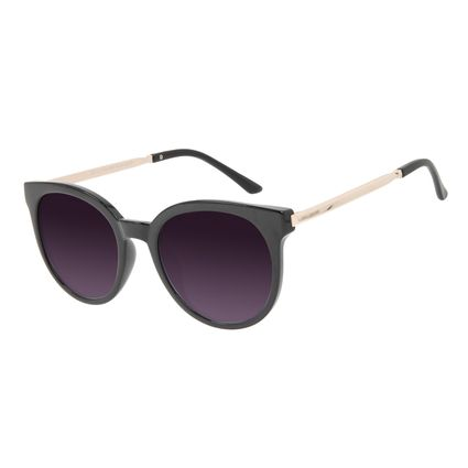 Óculos de Sol Feminino Chilli Beans Clássico Redondo Preto OC.CL.3384-0501