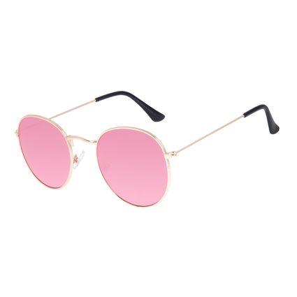 Óculos de Sol Unissex Chilli Beans Redondo Casual Espelhado OC.MT.3087-5421