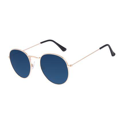 Óculos de Sol Unissex Chilli Beans Redondo Casual Azul OC.MT.3087-0821