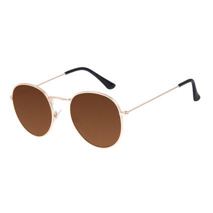 Óculos de Sol Unissex Chilli Beans Redondo Casual Brilho OC.MT.3087-0230
