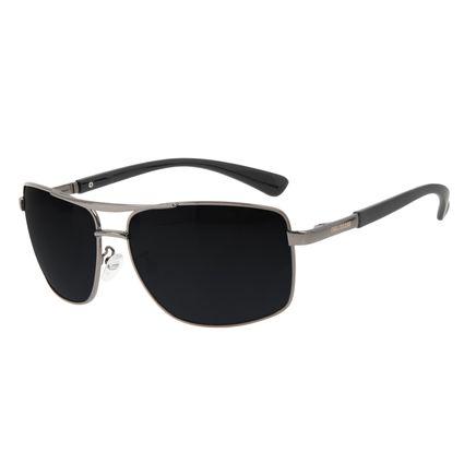 Óculos de Sol Masculino Chilli Beans Executivo Metal Brilho Preto OC.MT.3208-0101