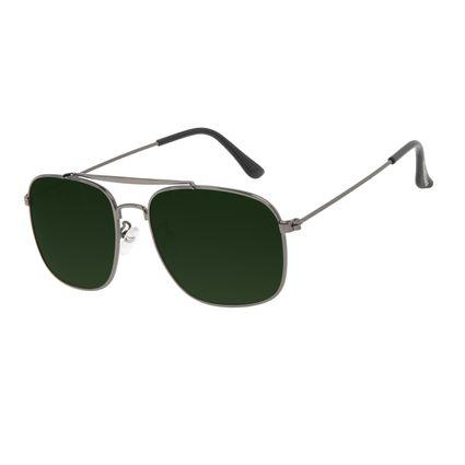 Óculos de Sol Masculino Chilli Beans Executivo Inox Verde Polarizado OC.MT.3205-1524