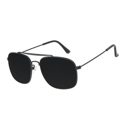 Óculos de Sol Masculino Chilli Beans Executivo Inox Preto Polarizado OC.MT.3205-0101