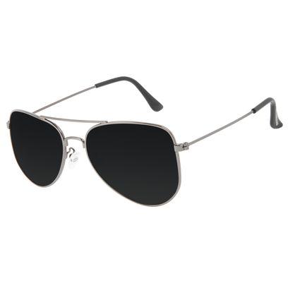 Óculos de Sol Unissex Chilli Beans Aviador Preto Polarizado OC.MT.3204-0101