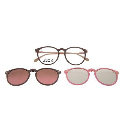 Armação Para Óculos de Grau Unissex Alok Tech In Style Multi 3D Rosé Polarizado LV.MU.0536-5795