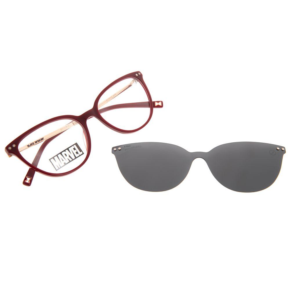 Armação Para Óculos de Grau Feminino Marvel Viúva Negra Multi Vinho Polarizado LV.MU.0578-0517