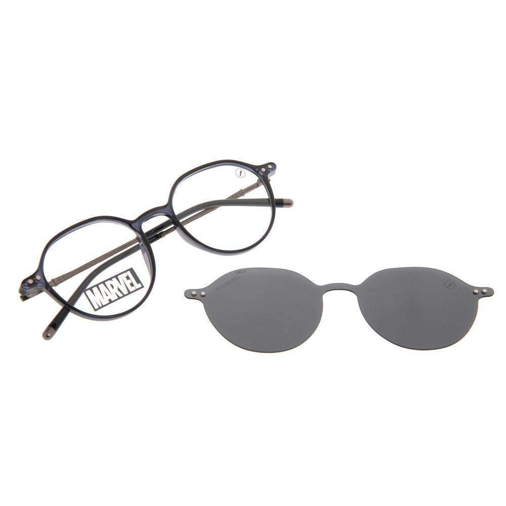 Armação Para Óculos de Grau Masculino Marvel Homem Aranha Multi Azul Polarizado LV.MU.0579-0108