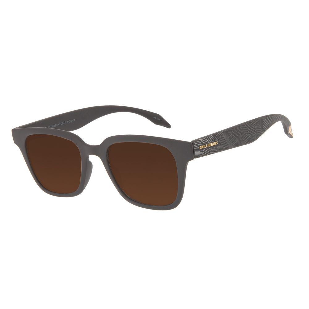 Óculos de Sol Feminino Marvel Pantera Negra Quadrado Marrom OC.CL.3307-0202