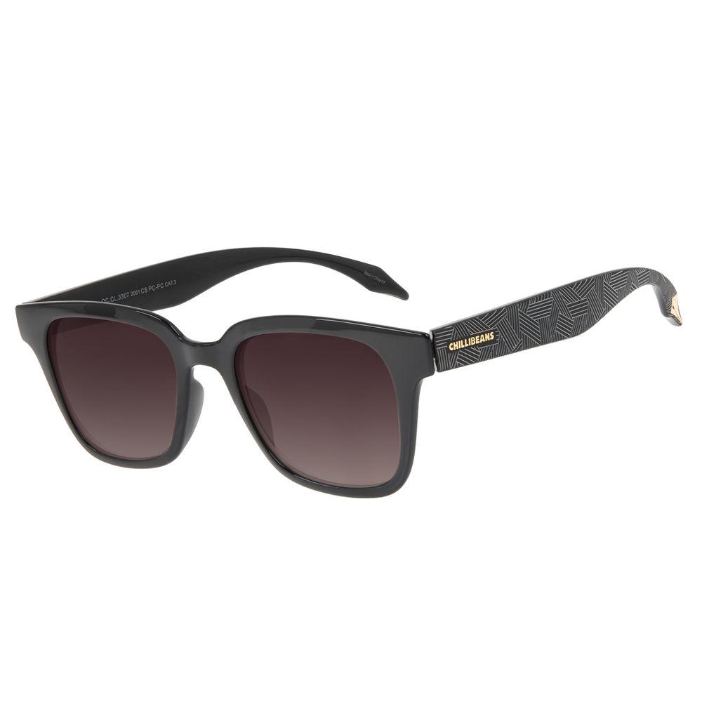 Óculos de Sol Feminino Marvel Pantera Negra Quadrado Preto OC.CL.3307-2001