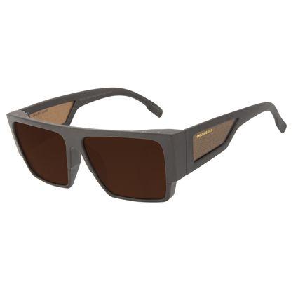 Óculos de Sol Masculino Marvel Pantera Negra Quadrado Tribal Marrom OC.CL.3308-0202