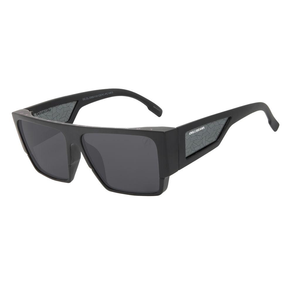 Óculos de Sol Masculino Marvel Pantera Negra Quadrado Tribal Preto OC.CL.3308-0101