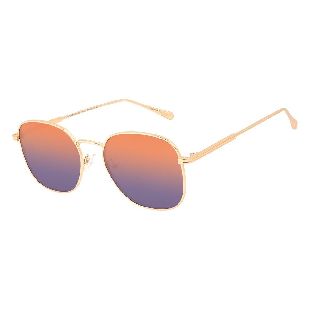 Óculos de Sol Feminino Marvel Capitã Marvel Quadrado Degradê Azul OC.MT.3138-8321