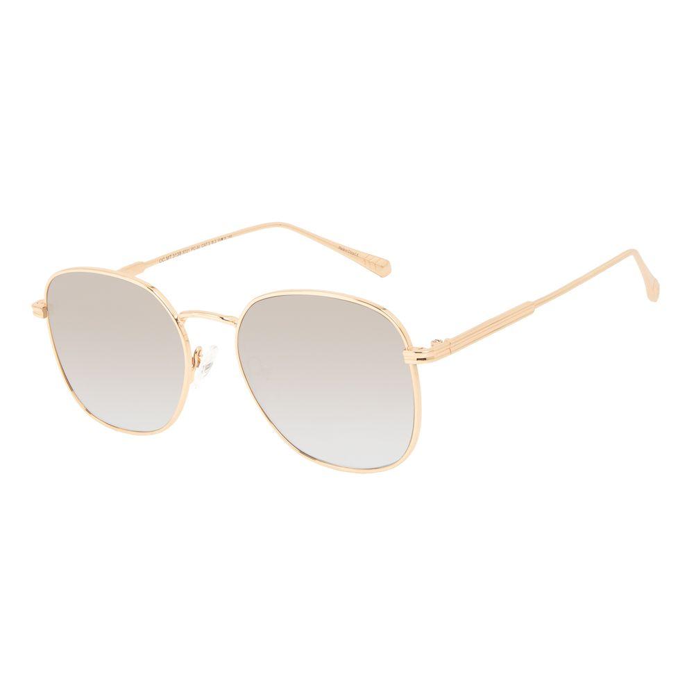 Óculos de Sol Feminino Marvel Capitã Marvel Quadrado Dourado OC.MT.3138-5721