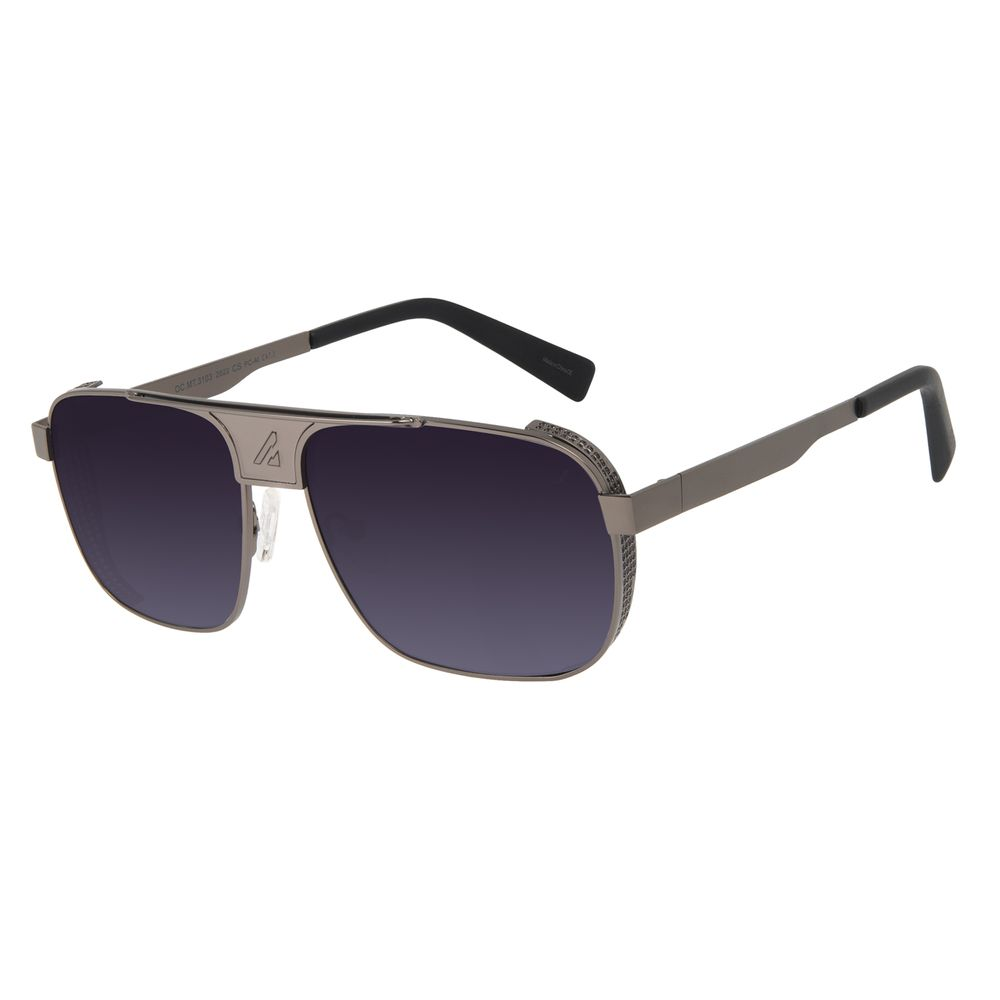 Óculos de Sol Masculino Alok Tech in Style Aviador Y2K Flap Ônix OC.MT.3103-2022