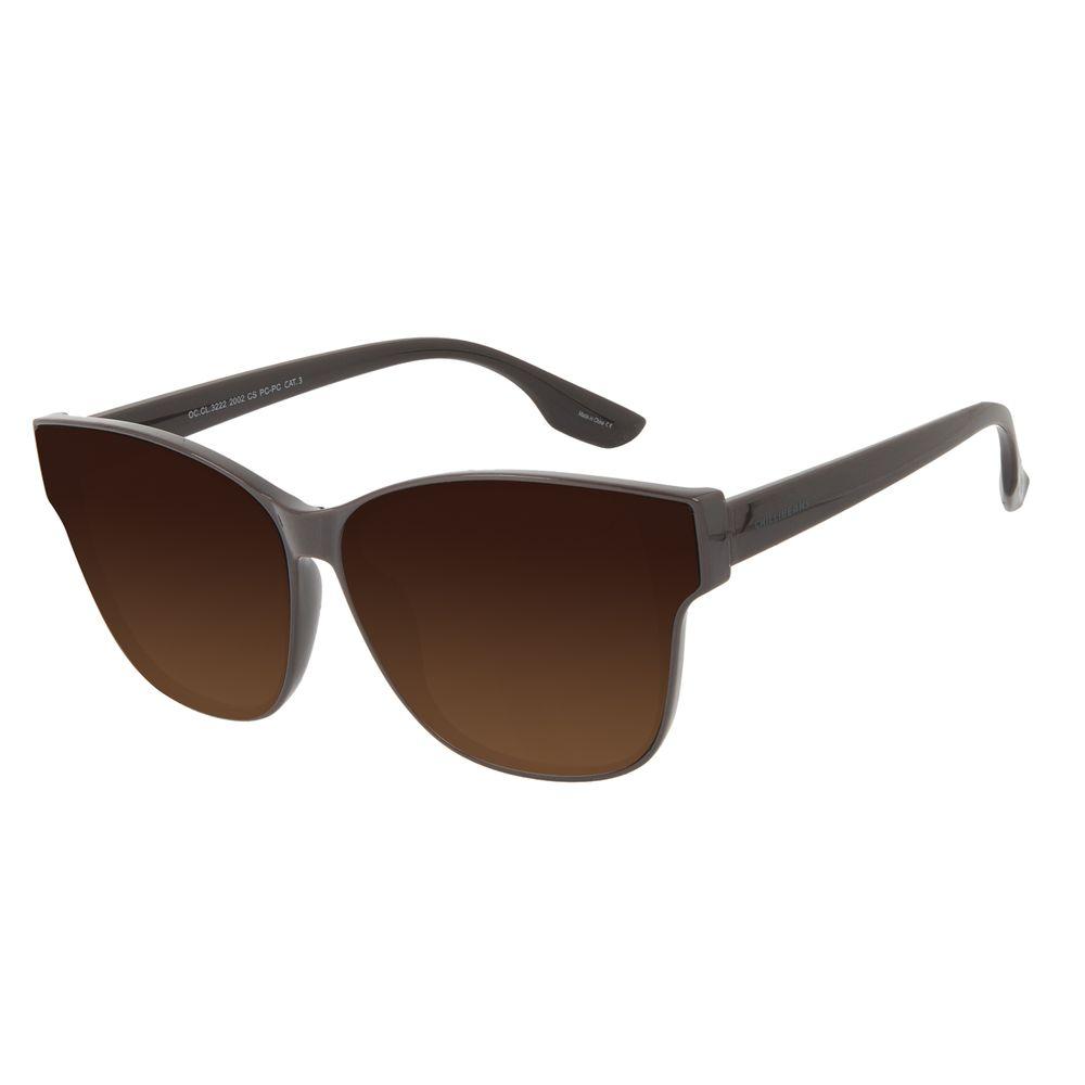 Óculos de Sol Feminino Chilli Beans Quadrado Clássico Marrom OC.CL.3222-2002