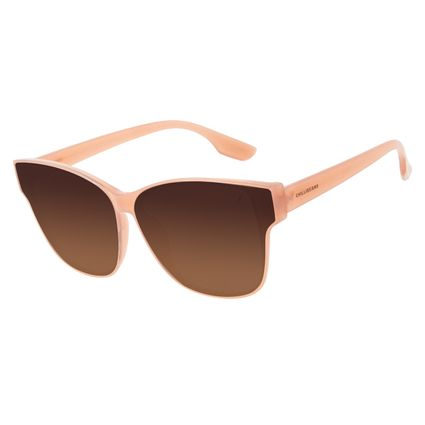 Óculos de Sol Feminino Chilli Beans Quadrado Clássico Degradê Marrom OC.CL.3222-5702
