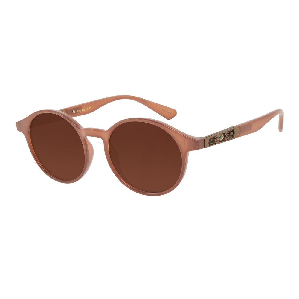 Óculos de Sol Masculino Marvel Doutor Estranho Redondo Marrom OC.CL.3332-0202