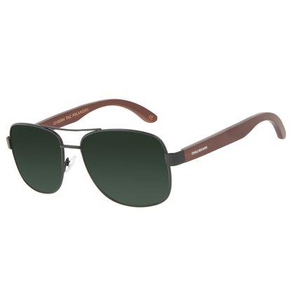 Óculos de Sol Masculino Chilli Beans Bamboo Executivo Polarizado Verde OC.MT.3093-1501