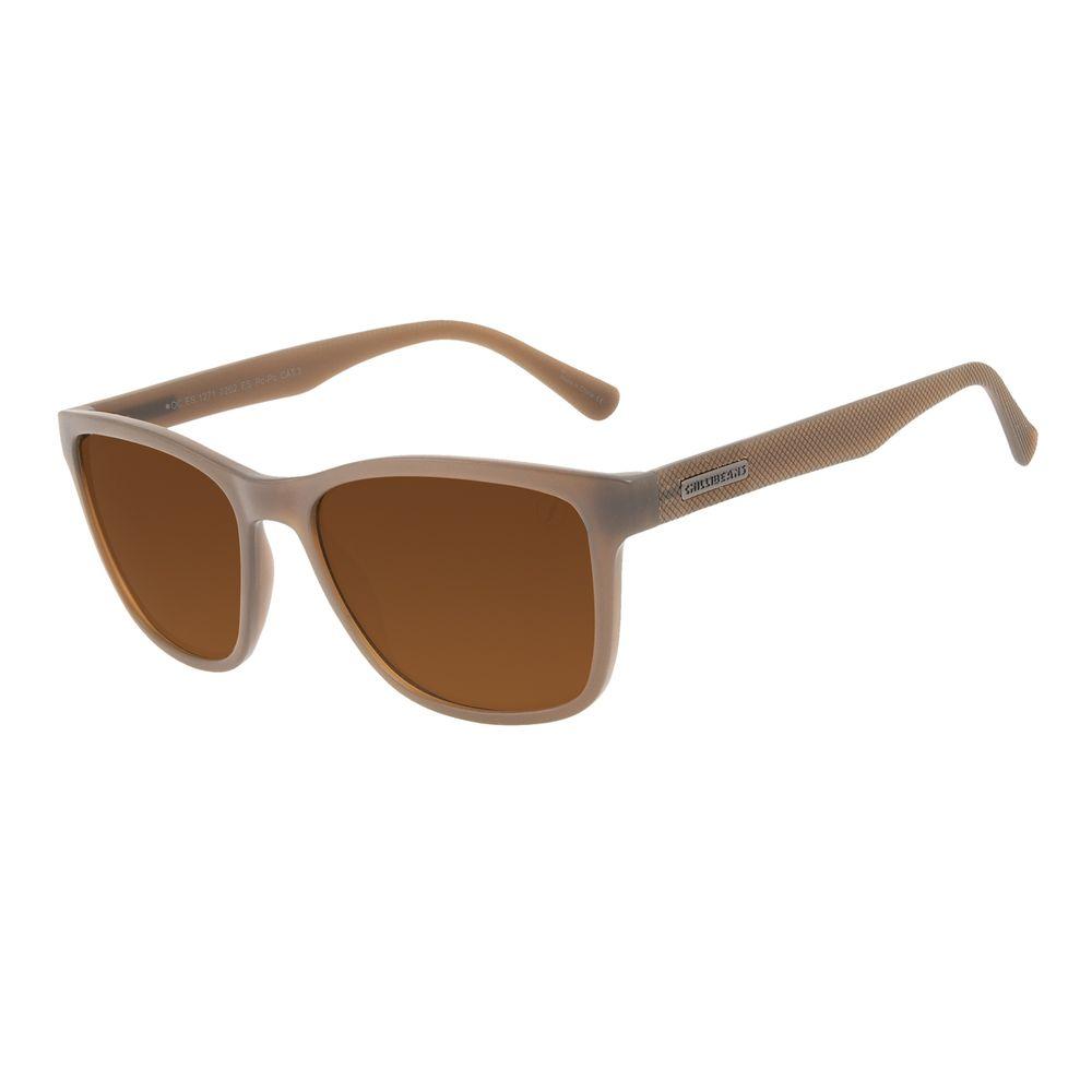 Óculos de Sol Masculino Chilli Beans New Sport Fosco Marrom OC.ES.1271-0202
