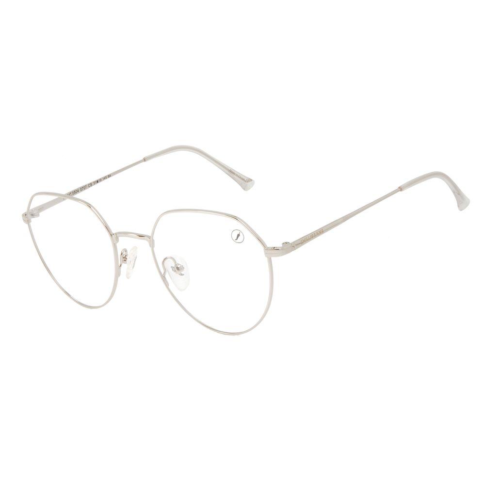 Armação Para Óculos de Grau Unissex Chilli Beans Metal Fosco Prata LV.MT.0504-0707