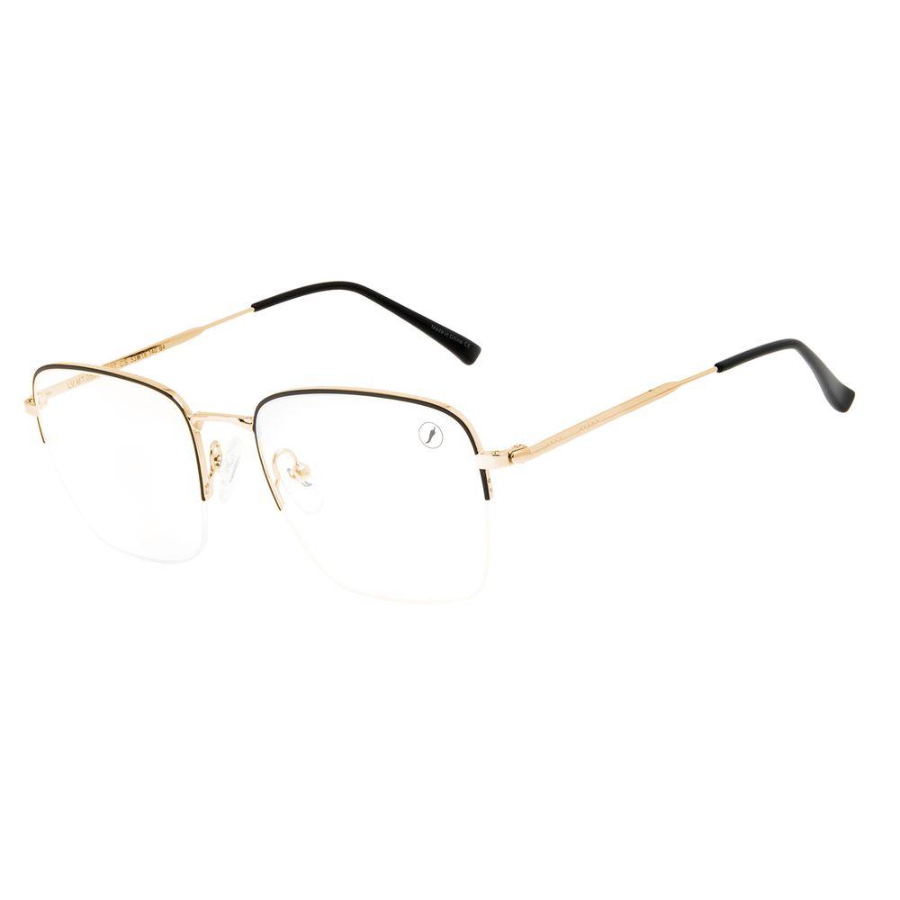 Armação Para Óculos de Grau Masculino Chilli Beans Quadrado Inox Dourado LV.MT.0505-0121