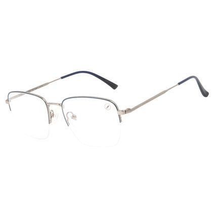 Armação Para Óculos de Grau Masculino Chilli Beans Quadrado Inox Ônix LV.MT.0505-0822