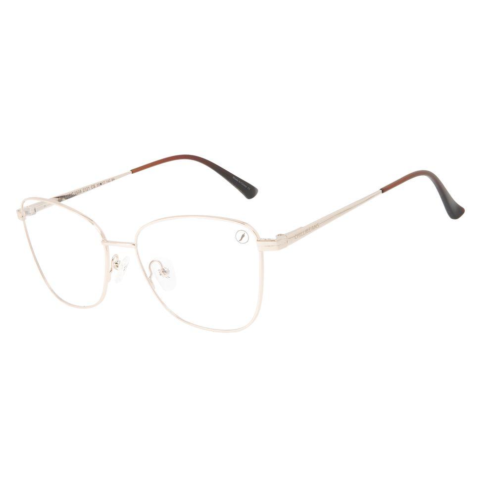 Armação Para Óculos de Grau Feminino Chilli Beans Cat Dourado LV.MT.0508-2121