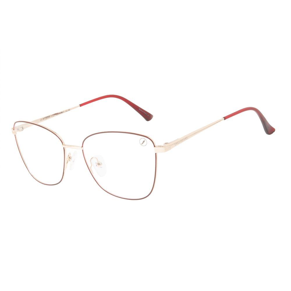 Armação Para Óculos de Grau Feminino Chilli Beans Cat Vinho LV.MT.0508-1721
