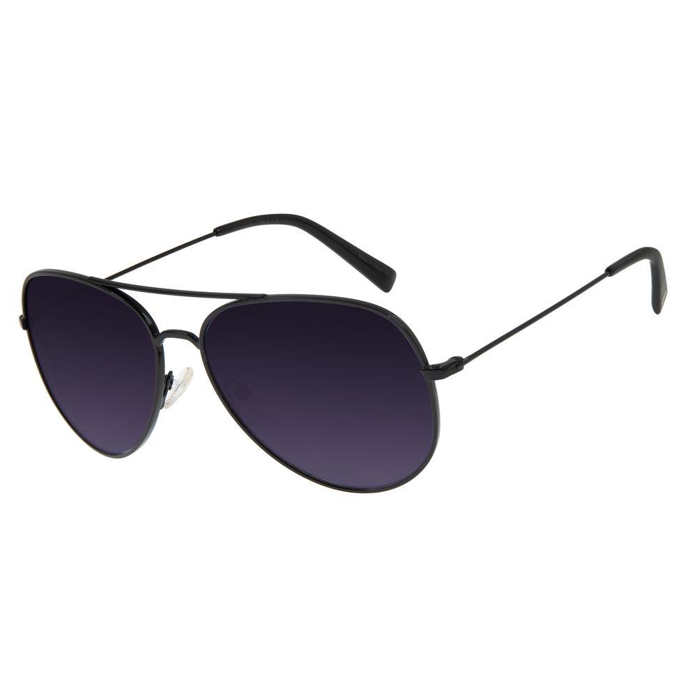 Óculos de Sol Unissex Chilli Beans Aviador Casual Preto OC.MT.3101-2001