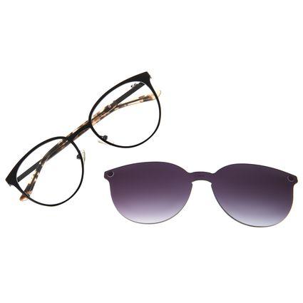 Armação Para Óculos de Grau Feminino Chilli Beans Essential Preto Multi LV.MU.0553-0101