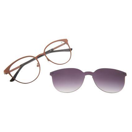 Armação Para Óculos de Grau Feminino Chilli Beans Essential Degradê Marrom Multi LV.MU.0553-2002