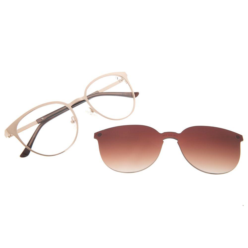 Armação Para Óculos de Grau Feminino Chilli Beans Essential Dourado Claro Multi LV.MU.0553-5764