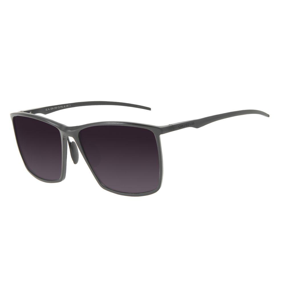 Óculos de Sol Masculino Chilli Beans Quadrado Polarizado Preto OC.AL.0254-2001