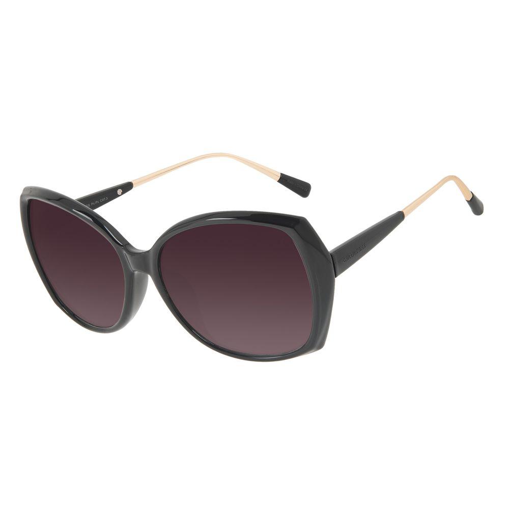 Óculos de Sol Feminino Chilli Beans Quadrado Clássico Preto OC.CL.3254-2001
